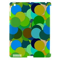 Green Aqua Teal Abstract Circles Apple Ipad 3/4 Hardshell Case (compatible With Smart Cover)