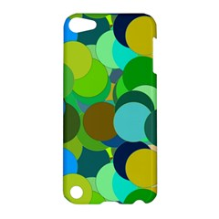 Green Aqua Teal Abstract Circles Apple Ipod Touch 5 Hardshell Case by Simbadda