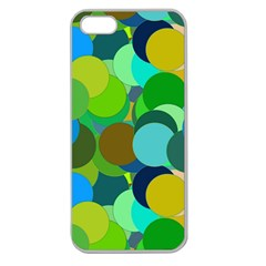 Green Aqua Teal Abstract Circles Apple Seamless Iphone 5 Case (clear) by Simbadda