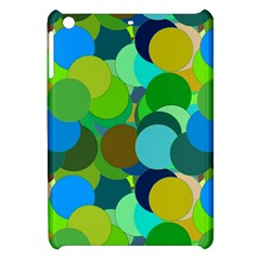Green Aqua Teal Abstract Circles Apple Ipad Mini Hardshell Case by Simbadda
