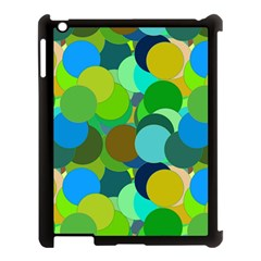 Green Aqua Teal Abstract Circles Apple Ipad 3/4 Case (black) by Simbadda