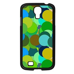 Green Aqua Teal Abstract Circles Samsung Galaxy S4 I9500/ I9505 Case (black)