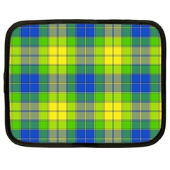 Spring Plaid Yellow Netbook Case (large) by Simbadda