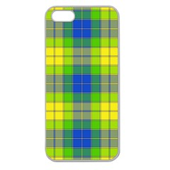 Spring Plaid Yellow Apple Seamless Iphone 5 Case (clear) by Simbadda