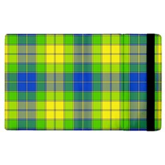 Spring Plaid Yellow Apple Ipad 3/4 Flip Case by Simbadda