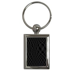 Pattern Dark Texture Background Key Chains (rectangle)  by Simbadda
