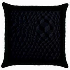 Pattern Dark Texture Background Throw Pillow Case (black) by Simbadda