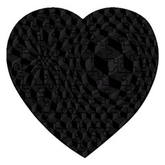 Pattern Dark Texture Background Jigsaw Puzzle (heart) by Simbadda