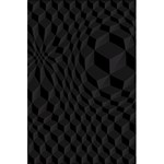 Pattern Dark Texture Background 5.5  x 8.5  Notebooks Back Cover Inside
