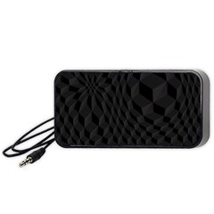 Pattern Dark Texture Background Portable Speaker (black) by Simbadda