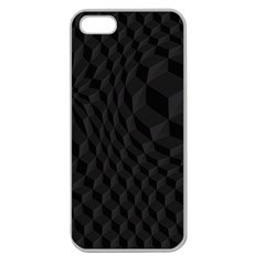 Pattern Dark Texture Background Apple Seamless Iphone 5 Case (clear) by Simbadda