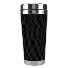 Pattern Dark Texture Background Stainless Steel Travel Tumblers by Simbadda