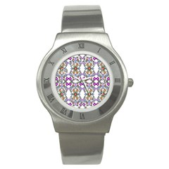 Floral Ornament Baby Girl Design Stainless Steel Watch by Simbadda
