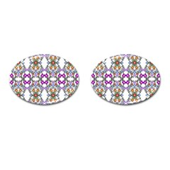 Floral Ornament Baby Girl Design Cufflinks (oval) by Simbadda