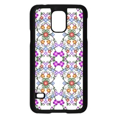 Floral Ornament Baby Girl Design Samsung Galaxy S5 Case (black) by Simbadda