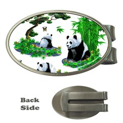 Cute Panda Cartoon Money Clips (oval)  by Simbadda