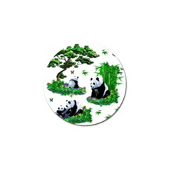 Cute Panda Cartoon Golf Ball Marker by Simbadda