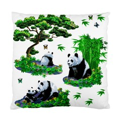 Cute Panda Cartoon Standard Cushion Case (one Side) by Simbadda