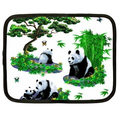 Cute Panda Cartoon Netbook Case (xxl)  by Simbadda