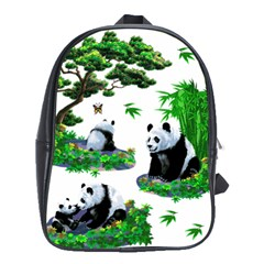 Cute Panda Cartoon School Bags(large)  by Simbadda