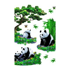 Cute Panda Cartoon Shower Curtain 48  X 72  (small)  by Simbadda