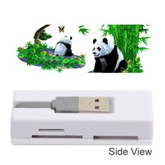 Cute Panda Cartoon Memory Card Reader (stick)  by Simbadda