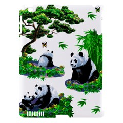 Cute Panda Cartoon Apple Ipad 3/4 Hardshell Case (compatible With Smart Cover)