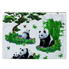 Cute Panda Cartoon Cosmetic Bag (xxl)  by Simbadda