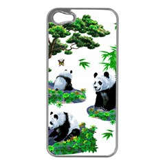 Cute Panda Cartoon Apple Iphone 5 Case (silver)