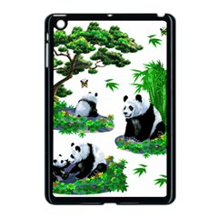 Cute Panda Cartoon Apple Ipad Mini Case (black) by Simbadda