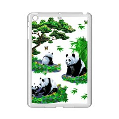 Cute Panda Cartoon Ipad Mini 2 Enamel Coated Cases by Simbadda