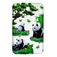 Cute Panda Cartoon Samsung Galaxy Tab 3 (7 ) P3200 Hardshell Case  by Simbadda