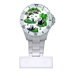 Cute Panda Cartoon Plastic Nurses Watch by Simbadda