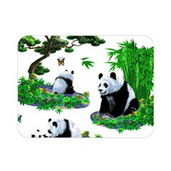 Cute Panda Cartoon Double Sided Flano Blanket (mini)  by Simbadda