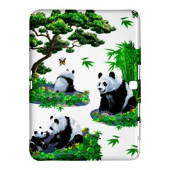 Cute Panda Cartoon Samsung Galaxy Tab 4 (10 1 ) Hardshell Case  by Simbadda
