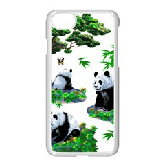 Cute Panda Cartoon Apple Iphone 7 Seamless Case (white) by Simbadda