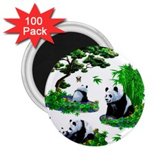 Cute Panda Cartoon 2 25  Magnets (100 Pack)  by Simbadda