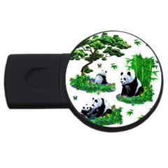 Cute Panda Cartoon Usb Flash Drive Round (4 Gb) by Simbadda