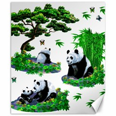 Cute Panda Cartoon Canvas 8  X 10  by Simbadda