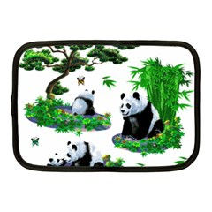 Cute Panda Cartoon Netbook Case (medium)  by Simbadda