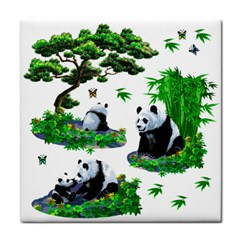 Cute Panda Cartoon Face Towel by Simbadda