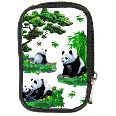 Cute Panda Cartoon Compact Camera Cases by Simbadda