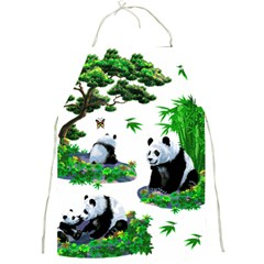 Cute Panda Cartoon Full Print Aprons by Simbadda