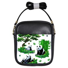Cute Panda Cartoon Girls Sling Bags by Simbadda
