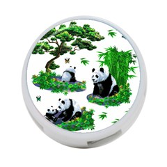 Cute Panda Cartoon 4 Port Usb Hub (one Side) by Simbadda