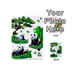 Cute Panda Cartoon Playing Cards 54 (mini)  by Simbadda