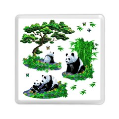 Cute Panda Cartoon Memory Card Reader (square)  by Simbadda