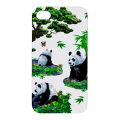 Cute Panda Cartoon Apple Iphone 4/4s Hardshell Case by Simbadda
