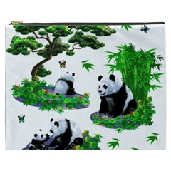 Cute Panda Cartoon Cosmetic Bag (xxxl)  by Simbadda