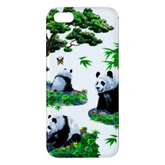 Cute Panda Cartoon Apple Iphone 5 Premium Hardshell Case by Simbadda